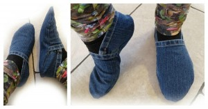 jeans - slippers